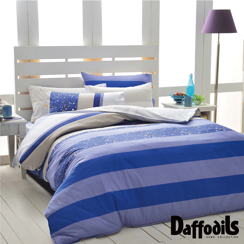 Daffodils 來自星星 雙人加大三件式純棉床包組,精梳純棉/台灣精製