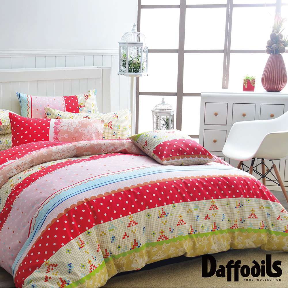 Daffodils 帕紗蒂娜 雙人三件式純棉床包組,精梳純棉/台灣精製