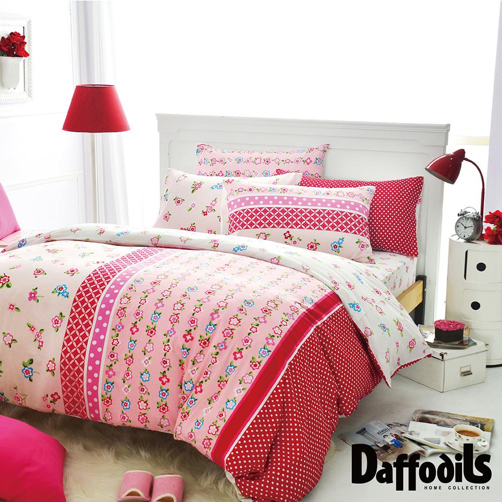 Daffodils 玢戀伊人 雙人三件式純棉床包組,精梳純棉/台灣精製