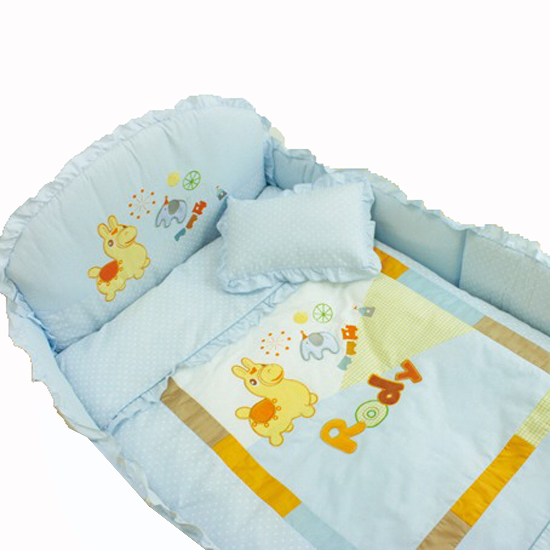 GMP BABY RODY跳跳馬柔軟抗蹣菌棉嬰兒床七件組