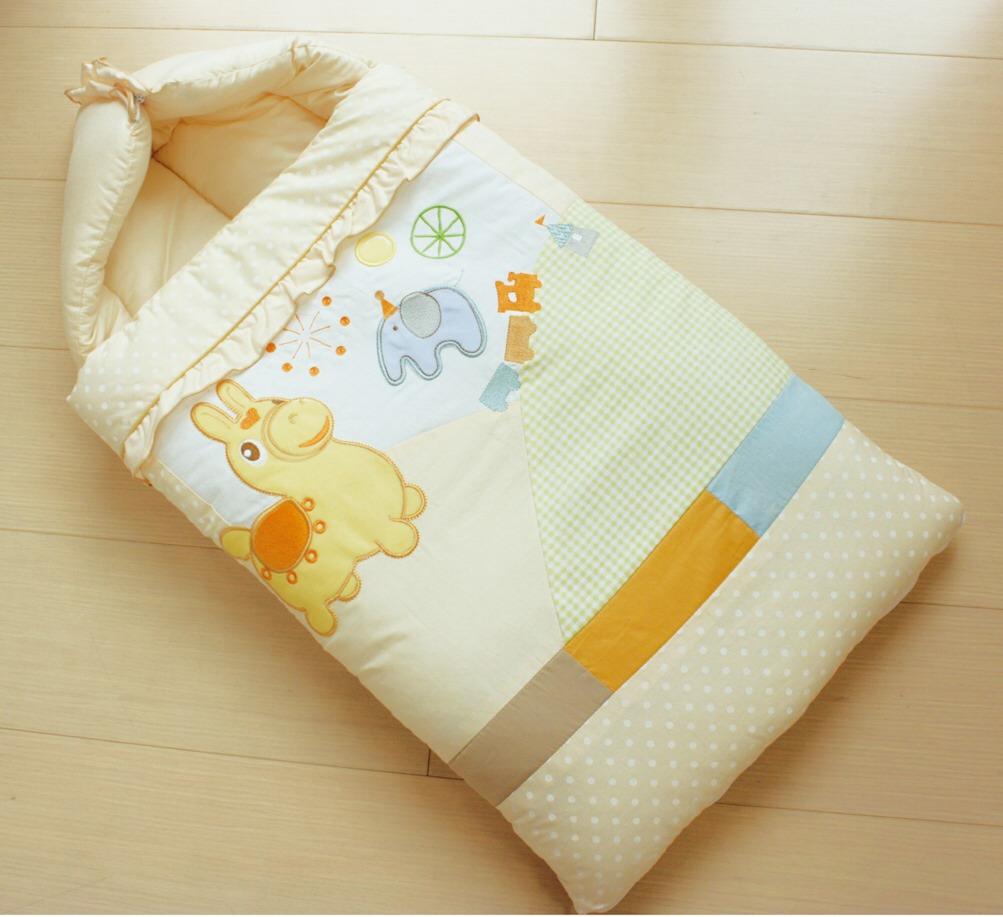 GMP BABY RODY跳跳馬柔軟抗蹣菌棉幼童睡袋組~米色1組
