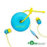 [福利品]Fonestuff FS6002 收線式耳道耳機(藍黃)