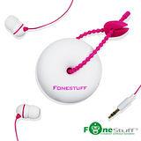 [福利品]Fonestuff FS6002 收線式耳道耳機(白粉)