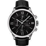 TISSOT 杜魯爾系列機械計時腕錶-黑/44mm T0994271605800