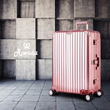 Rowana 星鑽冰糖金屬平框避震行李箱 29吋(玫瑰金)