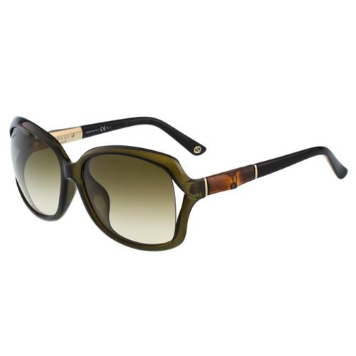 GUCCI-李冰冰代言-竹節太陽眼鏡(透明灰綠)