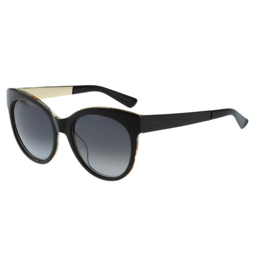 GUCCI-花卉絲巾 太陽眼鏡(黑色)