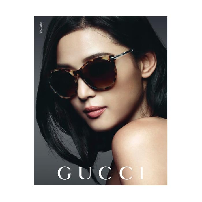 GUCCI-全智賢最新廣告款 太陽眼鏡(豹紋色)