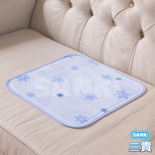 日本SANKI 雪花紫 冰涼枕坐墊1入 可選