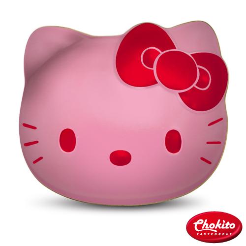 巧趣多Hello Kitty蔓越莓豆巧克力貓咪 盒60g