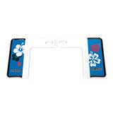 3D 新7碼適用 汽車裝飾牌框 (粉藍扶桑花)