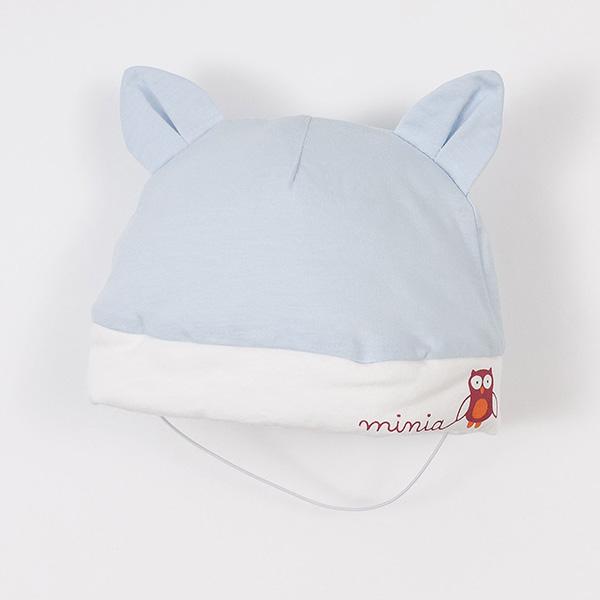 【愛的世界】MYBABY 貓頭鷹耳朵造型鋪棉帽子/38~40CM-台灣製-