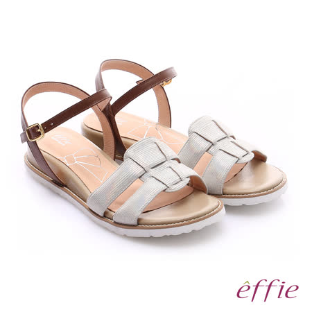 effie 絨面羅馬坡跟涼鞋