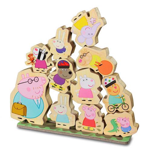 ~Peppa Pig~粉紅豬小妹木頭堆高遊戲組