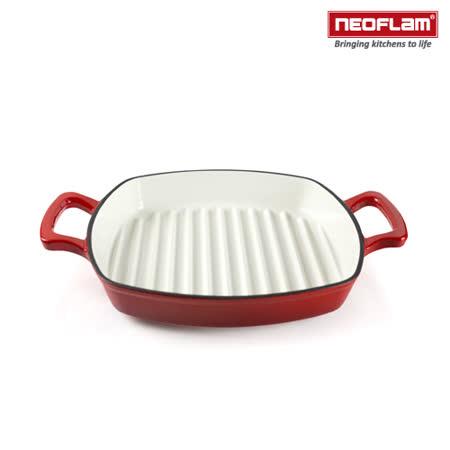 韓國NEOFLAM 28cm 厚釡琺瑯鑄鐵牛排煎鍋