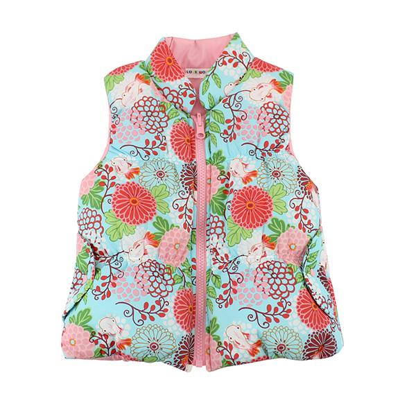 【愛的世界】LOVEWORLD 金魚系列鋪棉半高領兩面穿背心/2~4歲-粉色-台灣製-