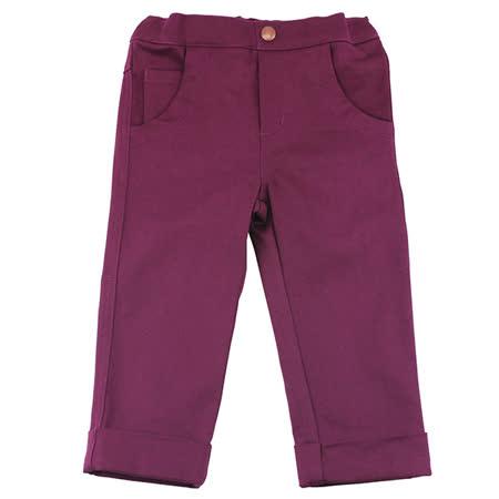 【愛的世界】MYBABY 小狐狸系列彈性鬆緊帶反折長褲/6~10歲-中國製-