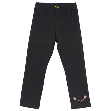 【愛的世界】MYBABY 小熊甜心系列彈性緊身長褲-黑色/S~L號-台灣製-