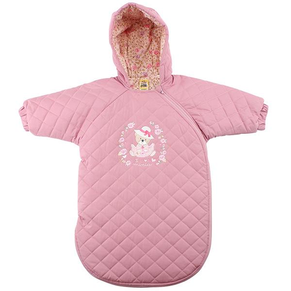 【愛的世界】玫瑰小熊舖棉連帽長袖防踢睡袍/睡袋-台灣製-