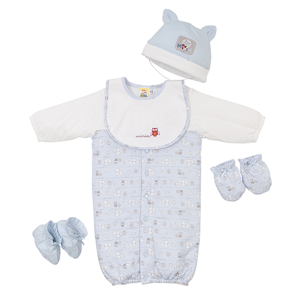 【愛的世界】MYBABY 狐狸伙伴系列鋪棉印花兩用嬰衣禮盒/3~6個月-台灣製-