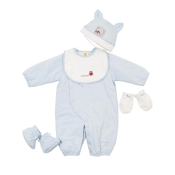 【愛的世界】MYBABY 狐狸伙伴系列鋪棉兩用嬰衣禮盒/3~6個月-台灣製-