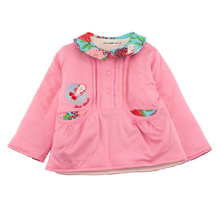 【愛的世界】LOVEWORLD 金魚系列POLO衫領鋪棉上衣/6個月~2歲-台灣製-
