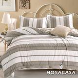 《HOYACASA 怡然沐夏》水洗棉雙人四件式被套床包組