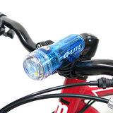 【Q-LITE】3白光LED防水多用途警示燈前燈頭燈/台灣製-透明藍