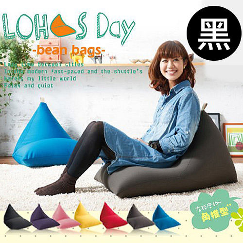 《BN-HOME》LOHAS Day 樂活時尚懶人沙發-黑色