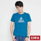 EDWIN 網路限定 三角漩渦幾何圖短袖T恤-男-灰藍