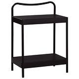 菲柏簡約5尺黑色鐵床床頭櫃