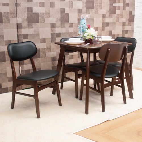 【AS】杰羅姆與亨佛來餐桌椅組(一桌四椅)
