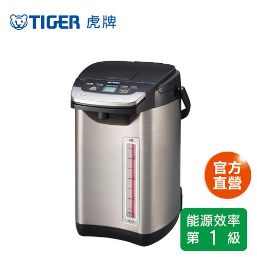 【TIGER 虎牌】日本製_4.0L無蒸氣VE節能省電真空熱水瓶(PIE-A40R)買就送虎牌380cc食物罐 (隨機出貨)