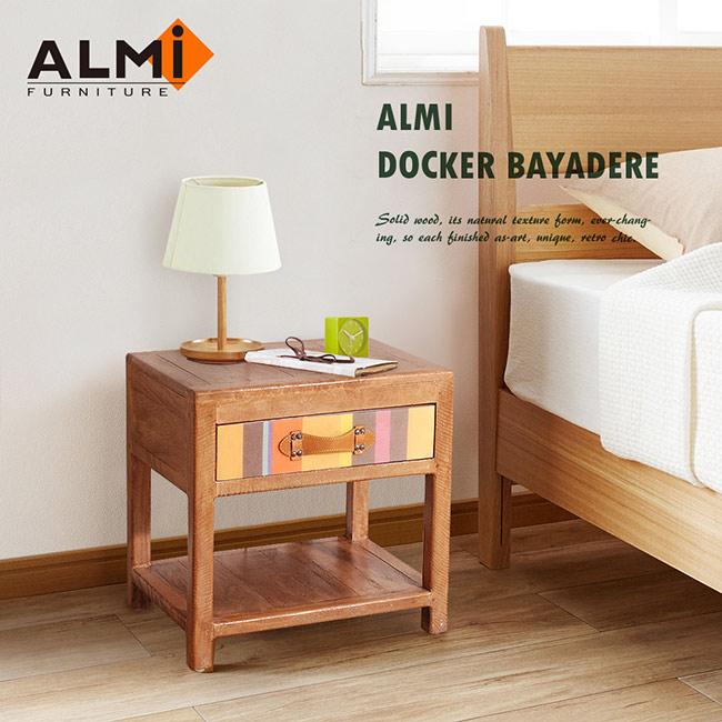 ~ALMI~DOCKER BAYADERE~BEDSIDE 1 DRAWER 床頭櫃