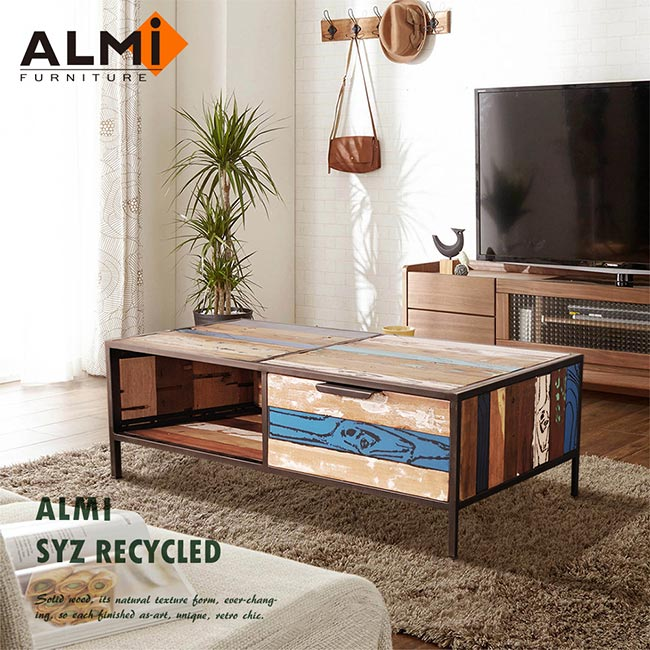 【ALMI】SYZ RECYCLED- 2 DRAWERS 雙抽咖啡桌