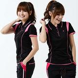 【遊遍天下】台灣製顯瘦抗UV涼爽吸濕排汗機能POLO衫S127黑