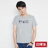 EDWIN 網路限定 移動迷宮短袖T恤-男-麻灰