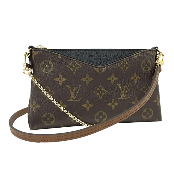 Louis Vuitton LV M41639 Pallas 經典花紋附斜背帶小鍊包.黑_預購