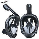 【THENICE 】全罩式浮潛呼吸面罩M2068 傑聯總代理公司貨 限量黑色