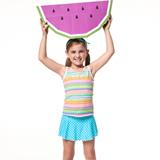 【SAIN SOU】泡湯SPA戲水女童二件式泳裝附泳帽A82606