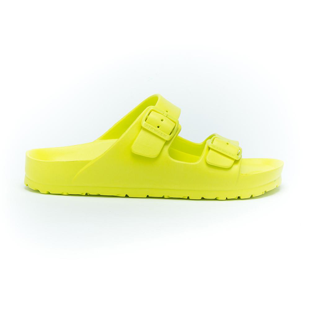 AIRWALK 男女休閒防水雙扣環AB拖鞋- 淺黃綠