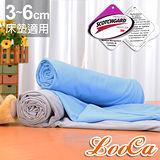 LooCa 親膚天絲3-6cm薄床墊布套加大6尺-拉鍊式