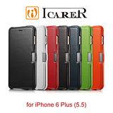 ICARER 奢華系列 iPhone6 Plus/6S Plus 磁扣側掀 手工真皮皮套