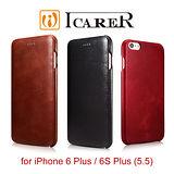 ICARER 復古曲風 iPhone 6 Plus / 6S Plus 磁吸側掀 手工真皮皮套