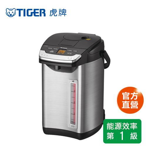 【TIGER 虎牌】日本製4.0L無蒸氣雙模式出水VE節能真空熱水瓶(PIG-A40R)買就送虎牌500cc保溫杯