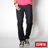 EDWIN 特大碼 基本五袋高腰直筒褲-男-原藍色