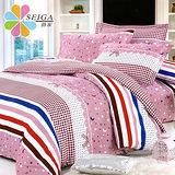 飾家 《美麗心靈》 加大絲柔棉四件式涼被床包組台灣製造