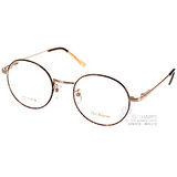 PAUL HUEMAN 眼鏡 韓版學院風圓框款(琥珀-玫瑰金) #PHF121D C01