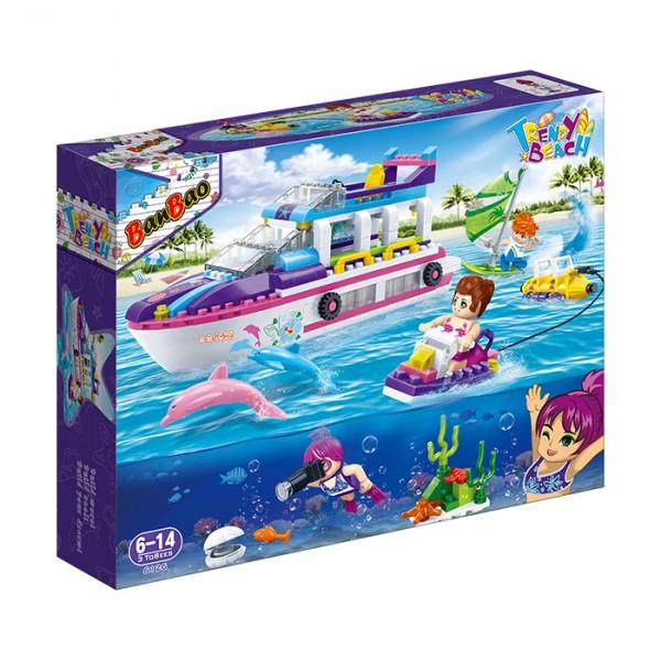 【BanBao 積木】沙灘女孩系列-觀光遊艇 6126