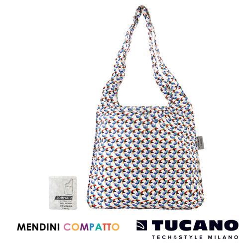 TUCANO X MENDINI 設計師系列超輕量折疊收納輕鬆購物袋(繽紛)